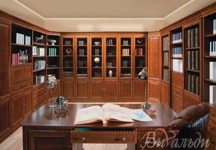 кабинетов-библиотек фото домашних
